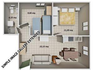 Kariati-Appartamenti-Mare---Trilocale-Mansarda-Tipo-10-Lato-Mare